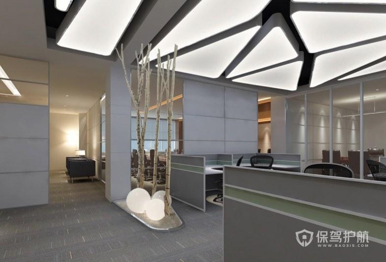 现代简约创意办公室设计实景图