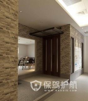 美式古典办公区走廊装修效果图