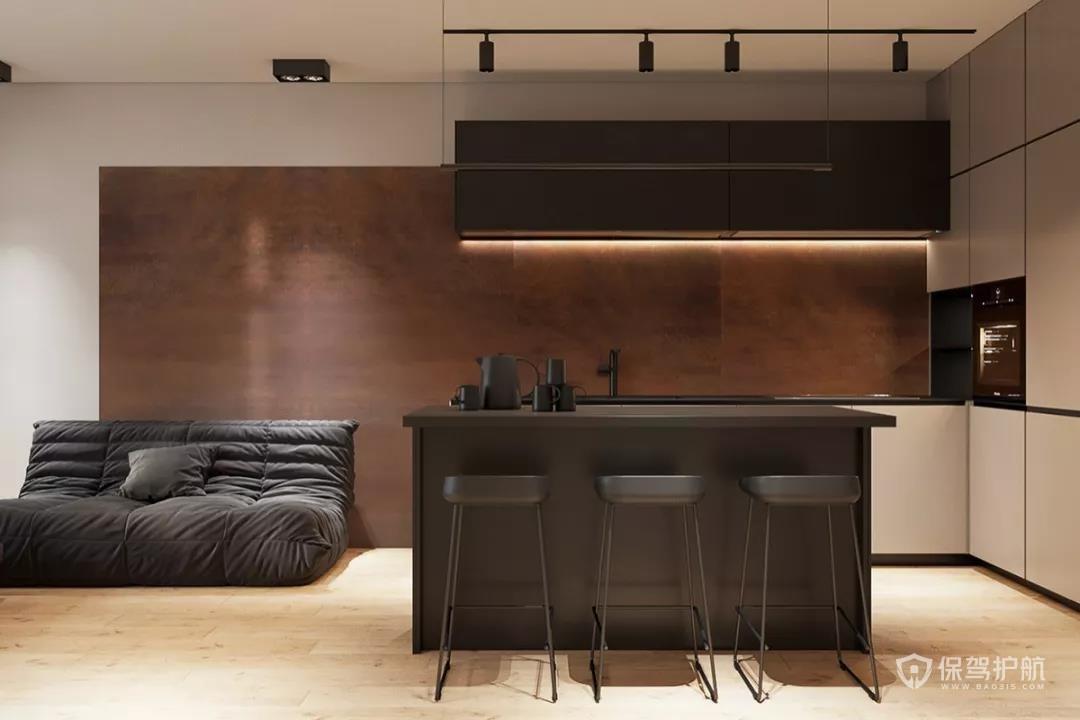 44㎡公寓装修设计,这样装啥功能都有!