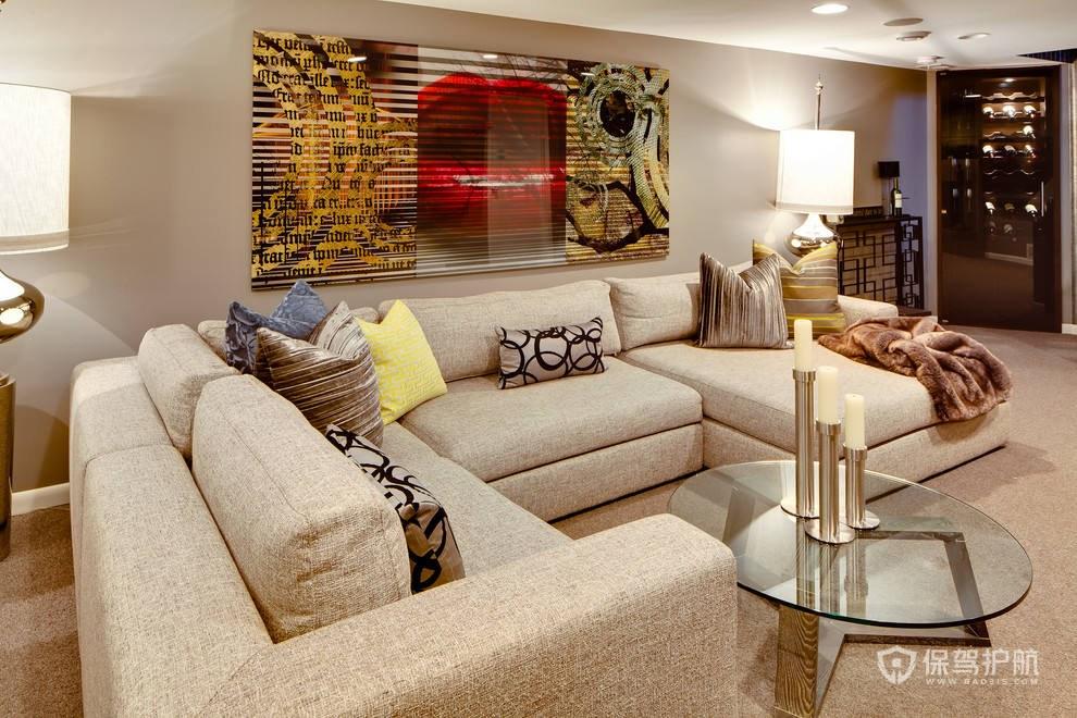 地下室客厅装修效果图-保驾护航装修网