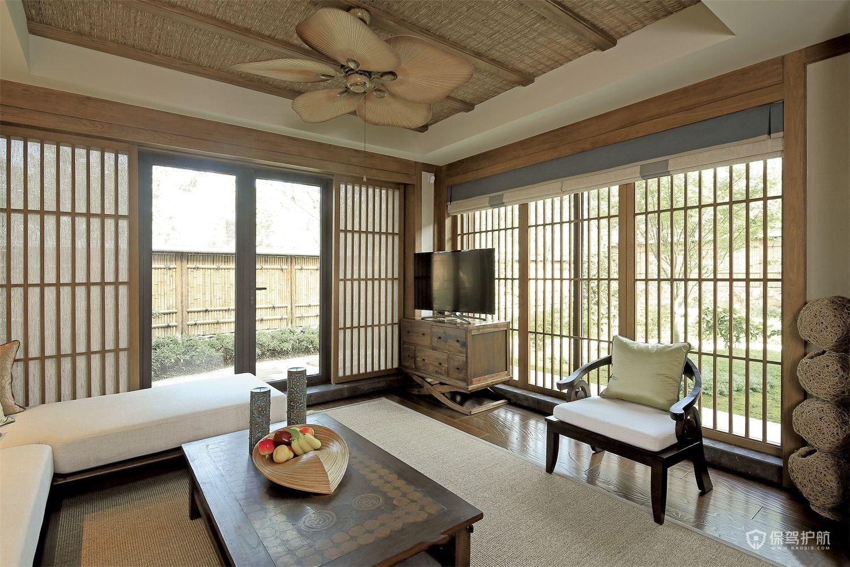 传统日式客厅装修效果图