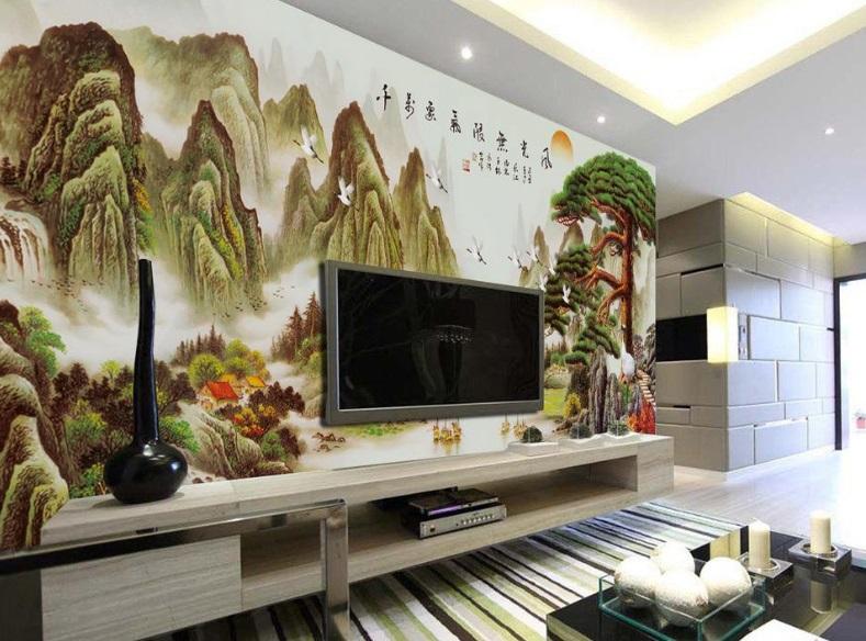 电视背景墙上可以挂字画吗? 挂什么字画好?