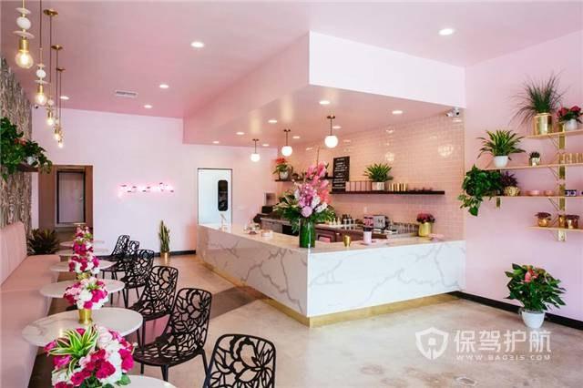 浪漫美式風格咖啡廳裝修效果圖