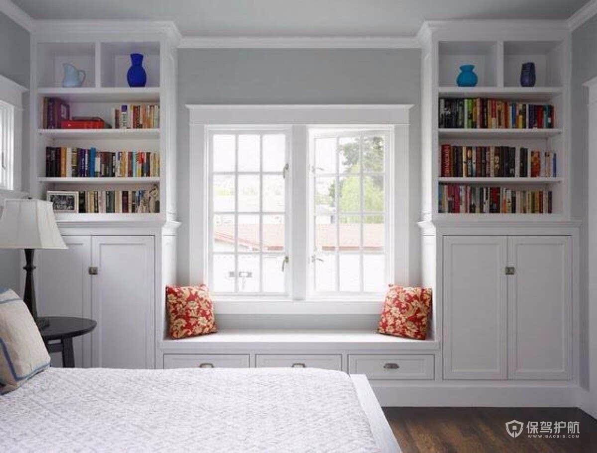 卧室飘窗柜子装修效果图-保驾护航装修网