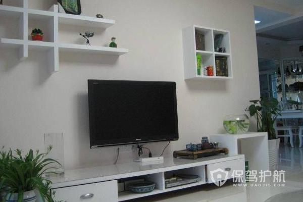 电视墙隔板安装效果-保驾护航装修网