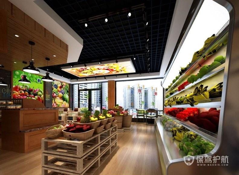 创新简约型水果店装修效果图