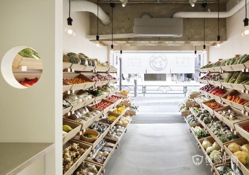 现代小清新水果店装修效果图