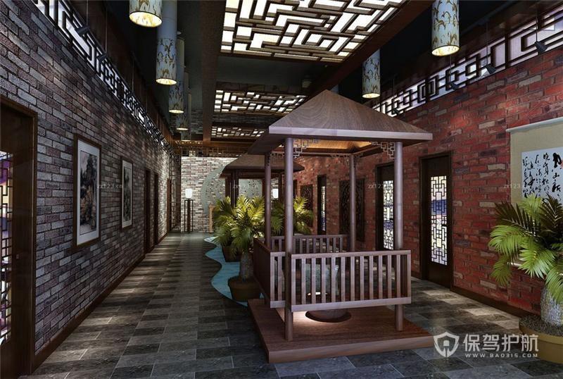 中式古典风格茶餐厅装修实景图