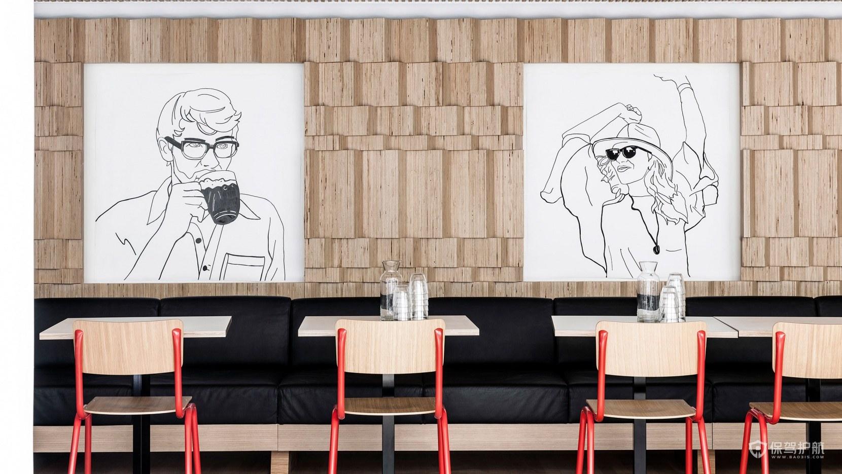 日式咖啡馆设计效果图