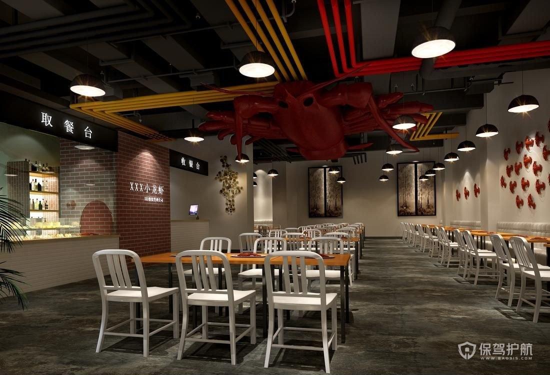 简约主题餐厅装修实景图