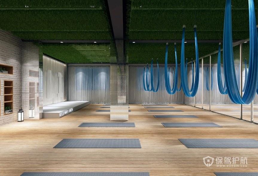 简洁现代健身房装修效果图