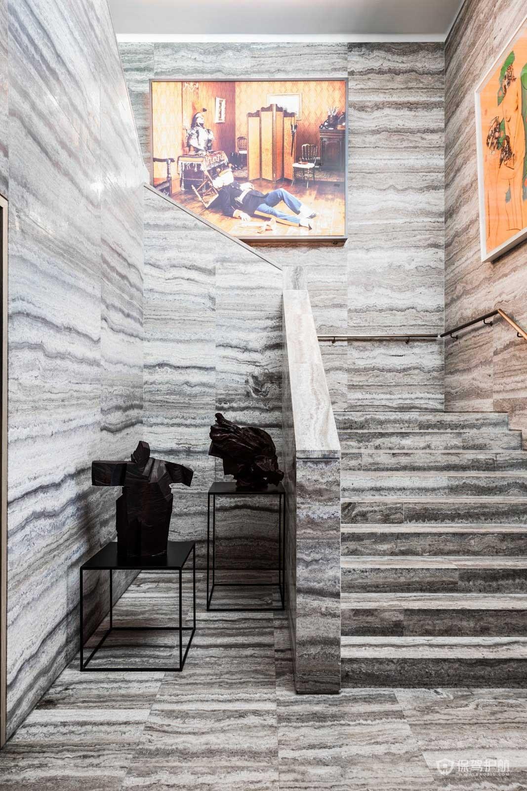 茶餐厅楼梯装修效果图