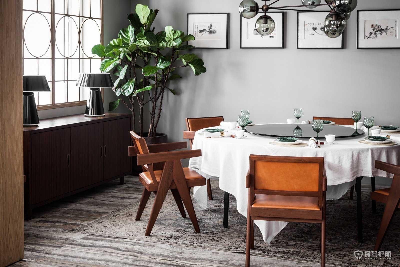 茶餐厅包厢桌椅装饰效果