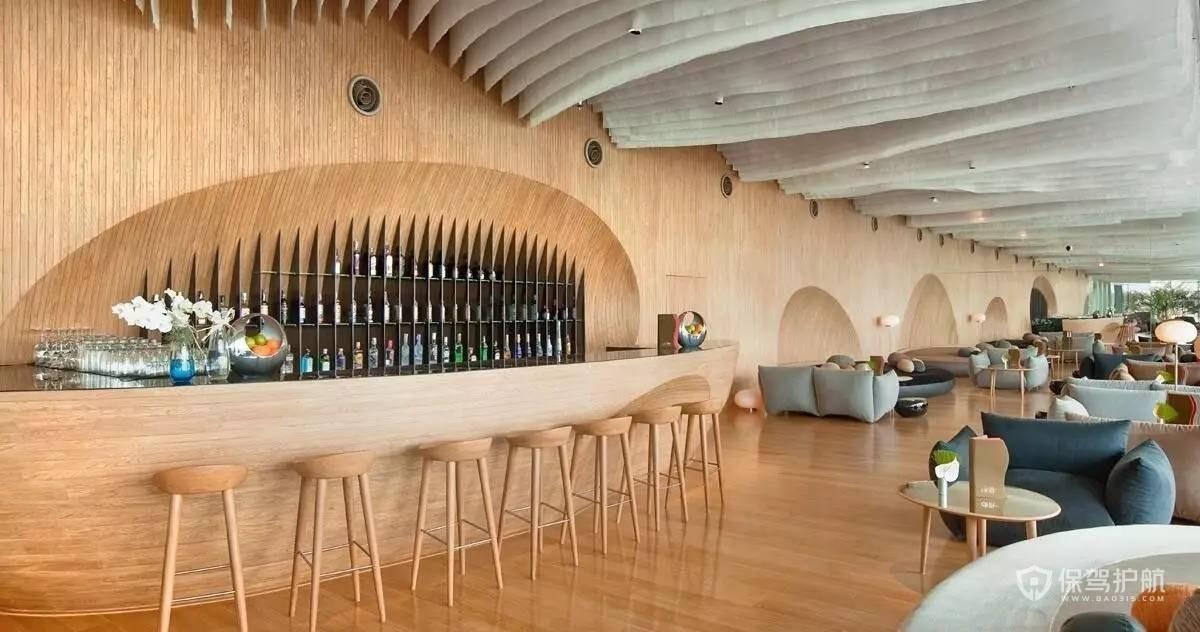 原木简约咖啡厅装修效果图