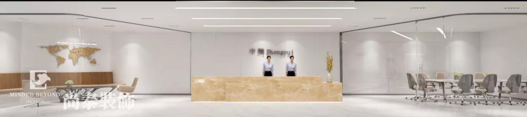 1200㎡几何、自然、立体构成的金融咨询办公空间装饰设计