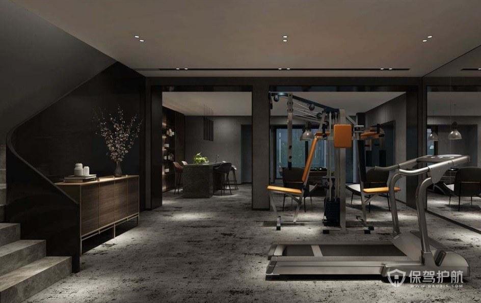 北歐風私人健身房裝修效果圖