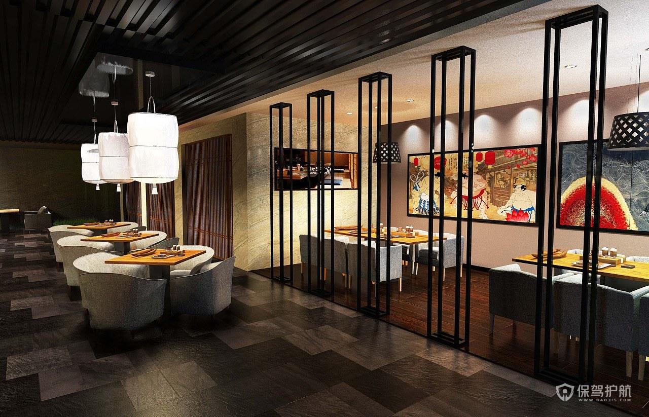 日式混搭餐厅装修效果图-保驾护航装…