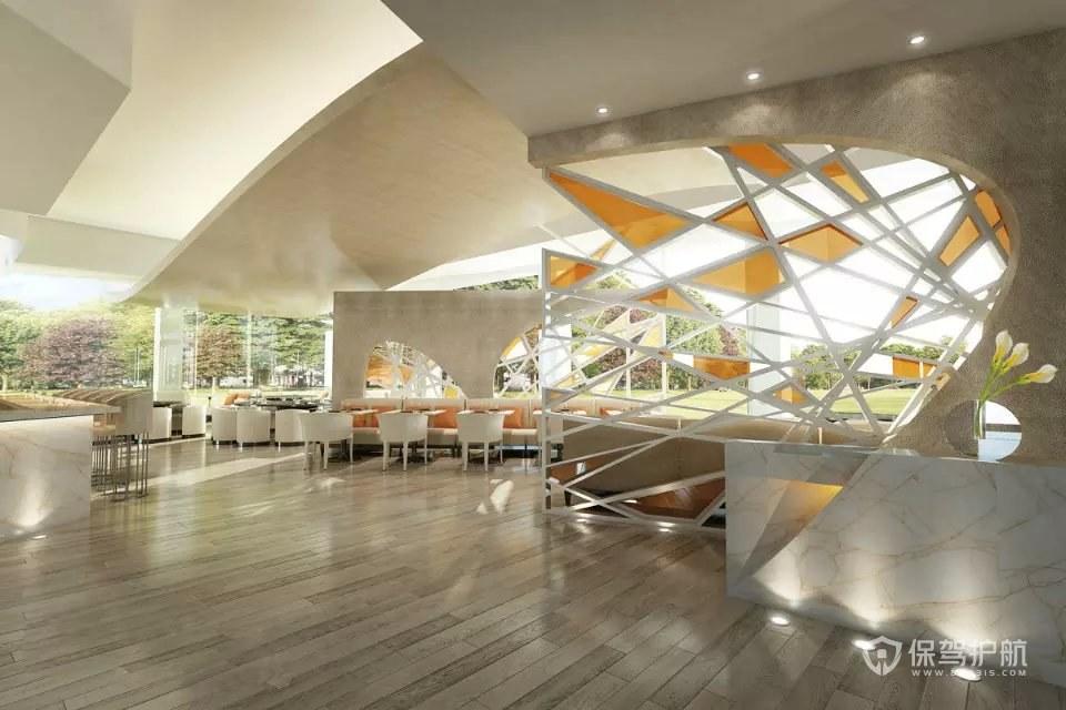 美式现代创意咖啡厅装修实景图
