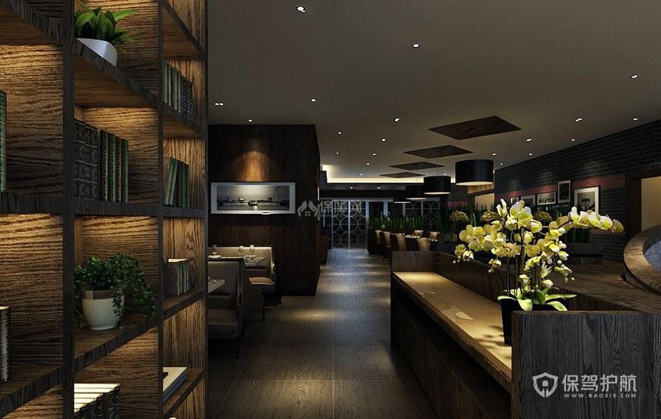 原木古典咖啡厅实景图