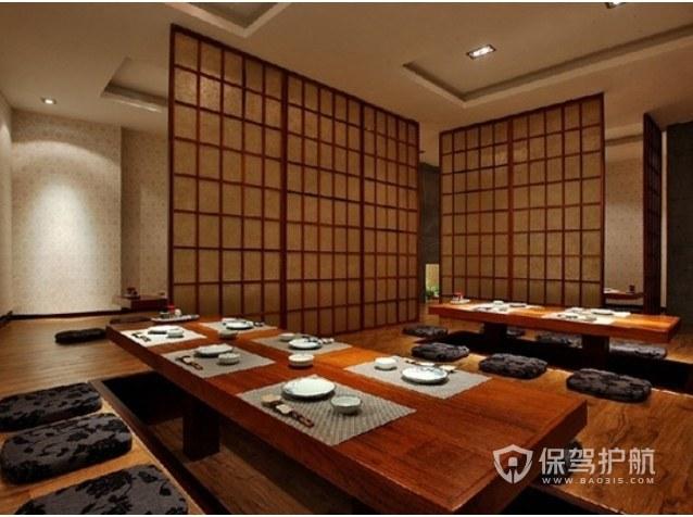 日式简约餐厅装修实景图