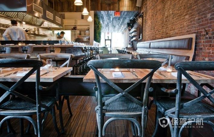美式咖啡厅装修实景图