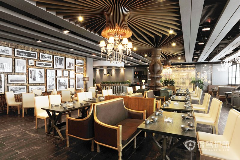 西式奢华餐厅装修实景图