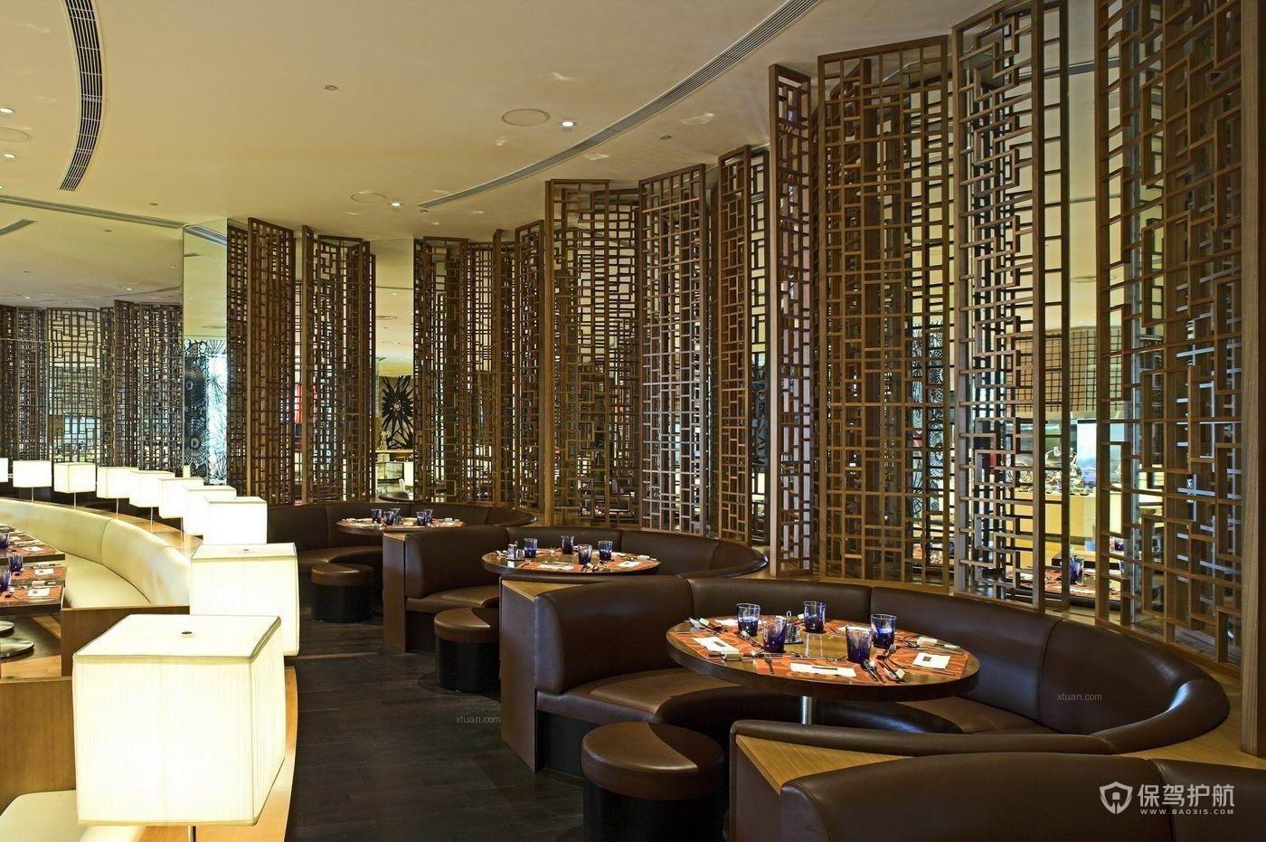现代豪华餐厅装修效果图