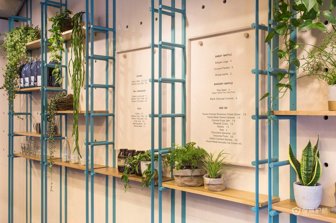 创意咖啡馆墙面装饰效果