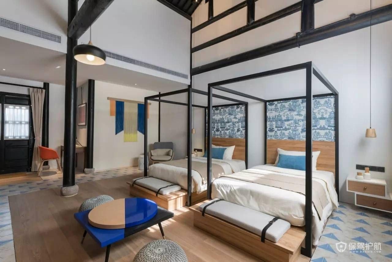 新中式民宿装修效果图