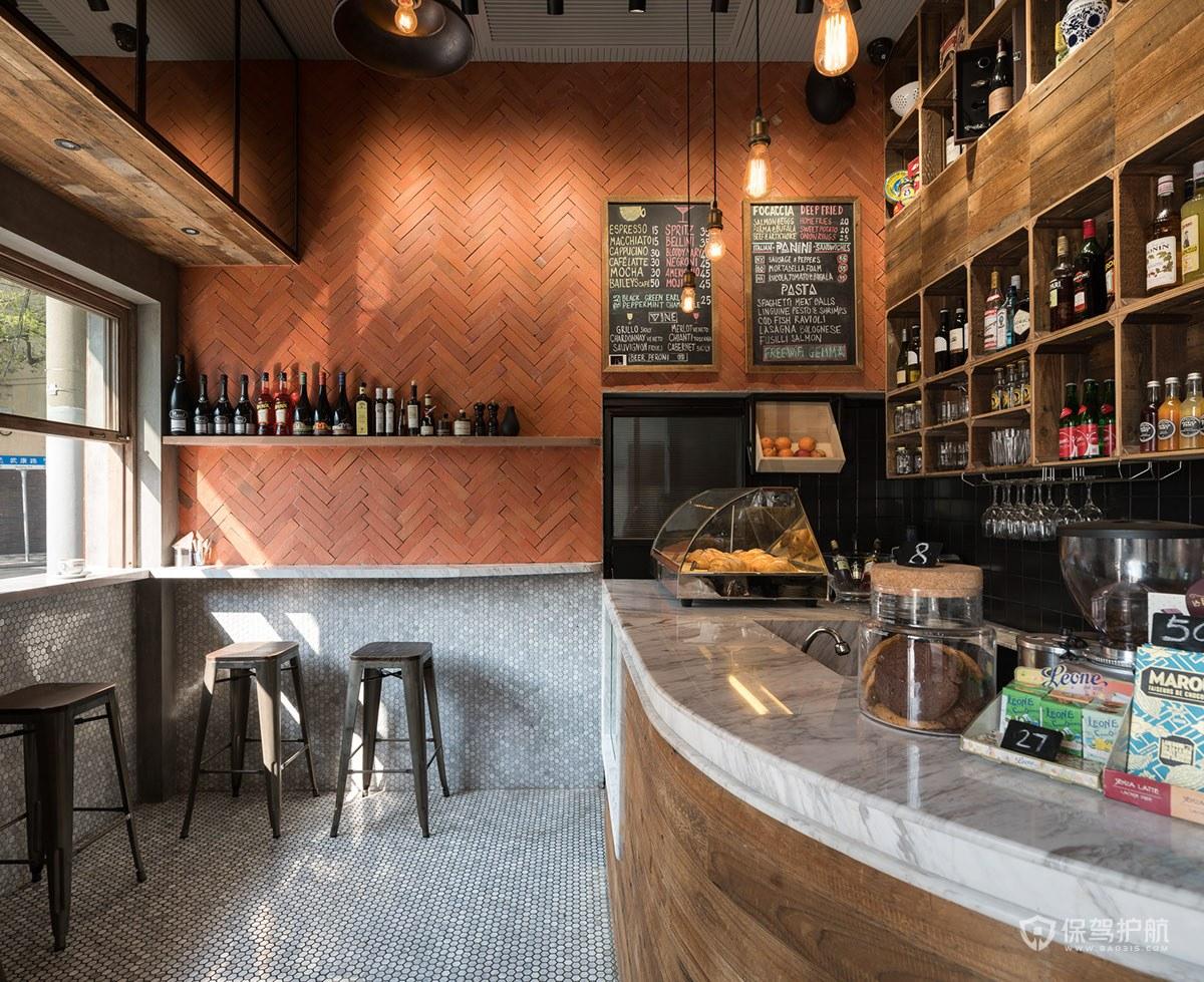 小型咖啡馆操作台装修效果图
