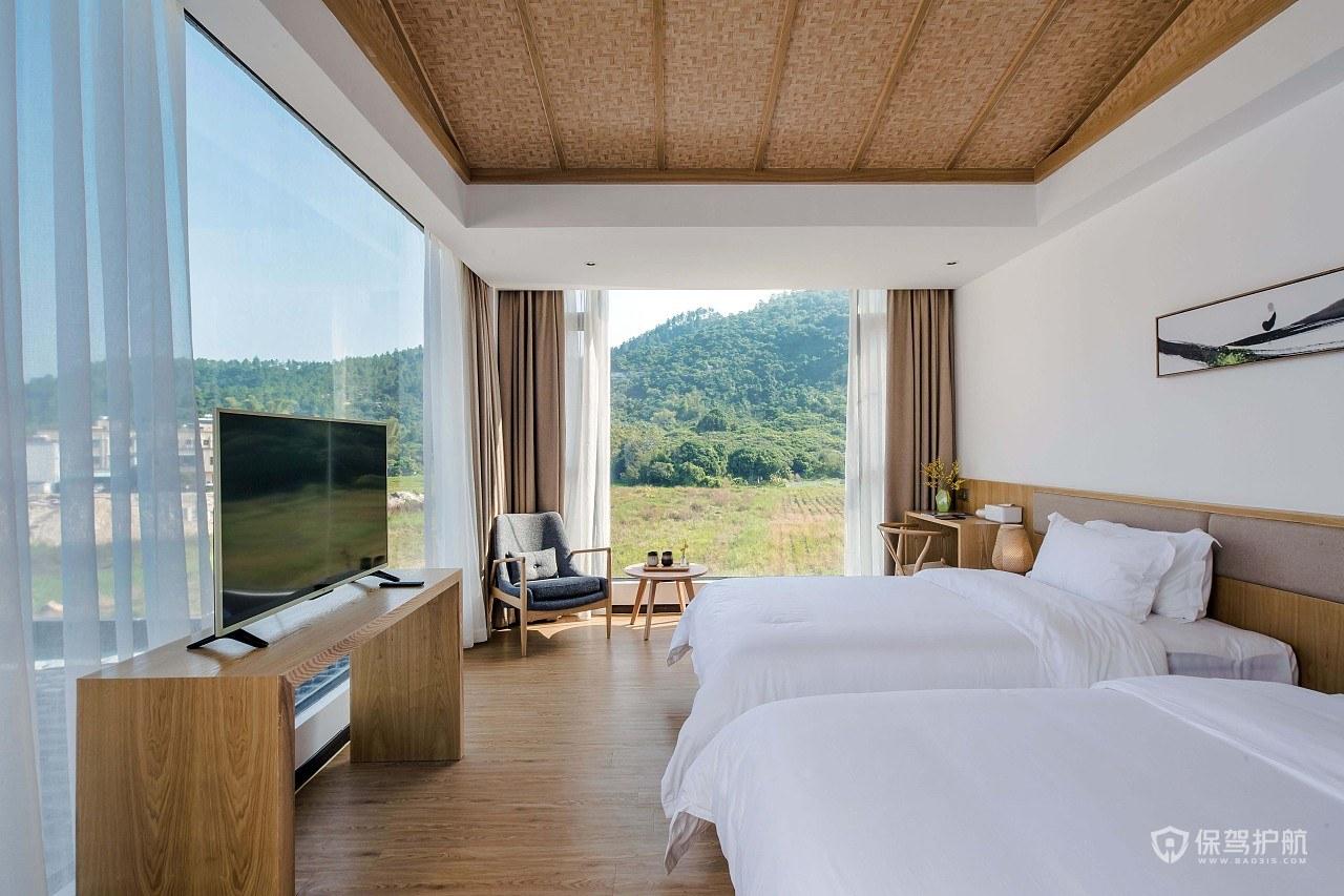 民宿酒店超大观景房间装修效果图