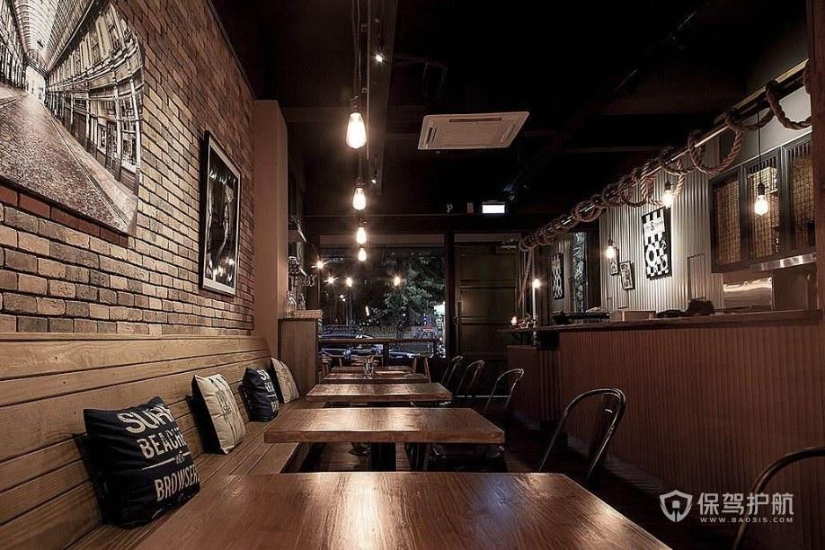美式复古咖啡店装修效果图