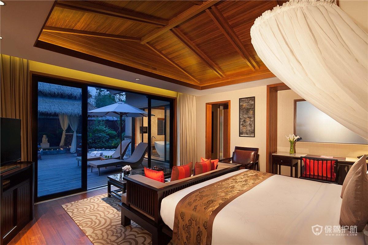 中式度假酒店装修效果图