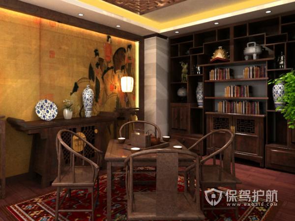 古典风格茶室装修设计效果图