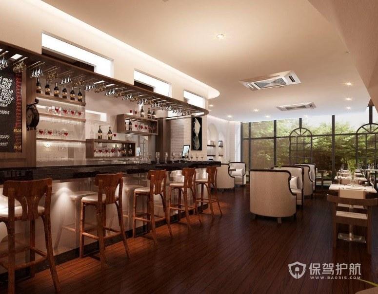 欧式轻奢咖啡厅装修效果图