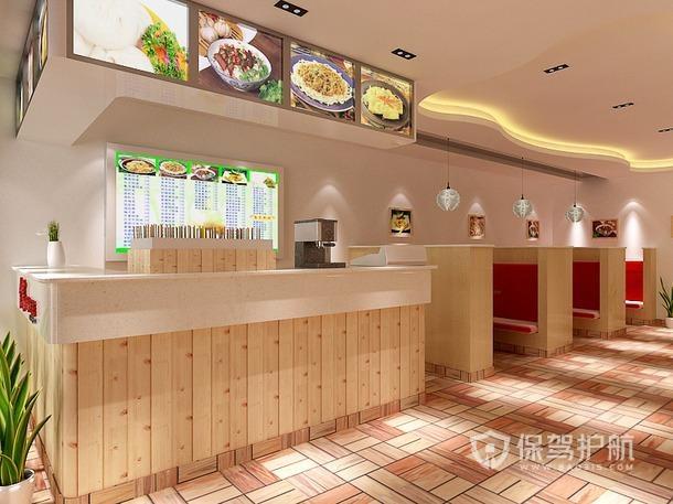 ?#30340;?#21543;台文艺小吃店装修效果图