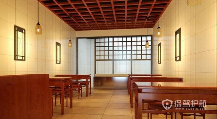 日式特色小吃店装修实景图