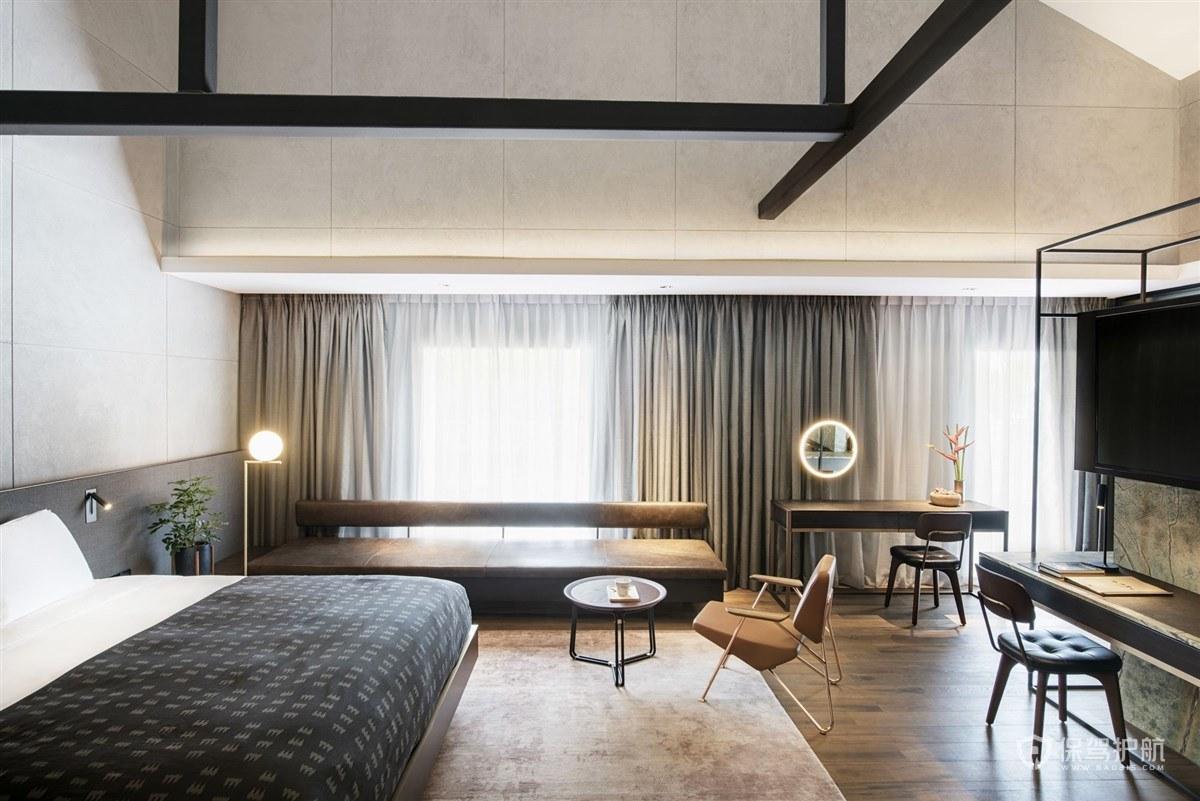 新中式酒店客房装修效果图