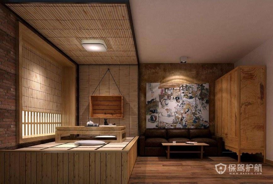 日式复古民宿装修效果图