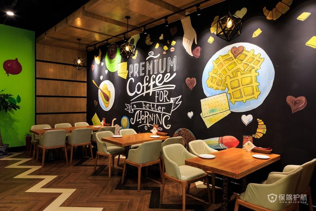舒适咖啡小吃店装修效果图