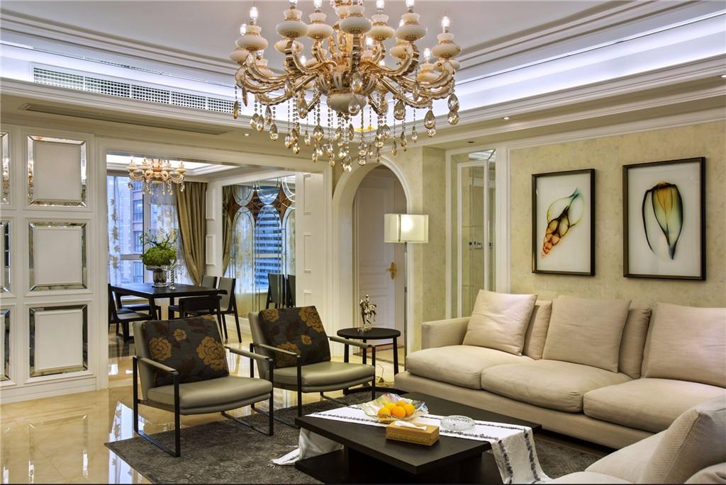 华南新城欧式风格四居室装修效果图