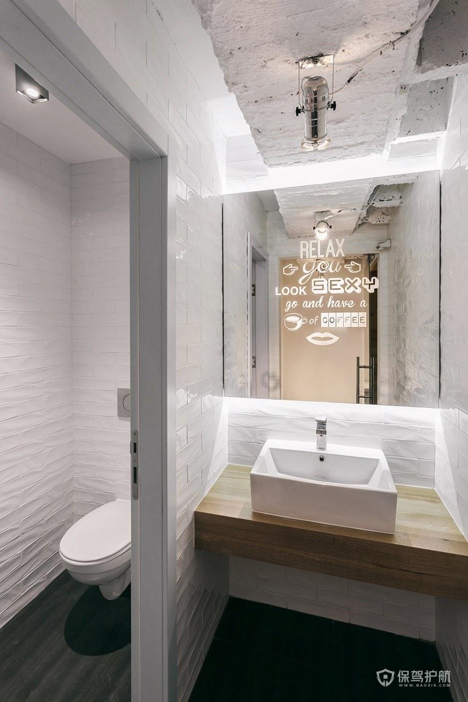简约咖啡馆卫生间设计图