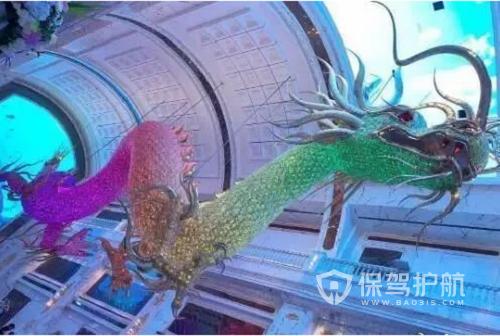 """吴佩慈花9亿造巨龙送婆婆 悬挂在酒店大堂""""壕""""气万丈"""