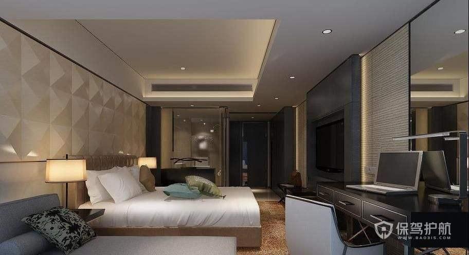 欧式酒店卧室装修实景图