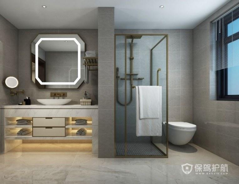 家装中选择整体卫生间有什么好处? 整体卫生间效果图