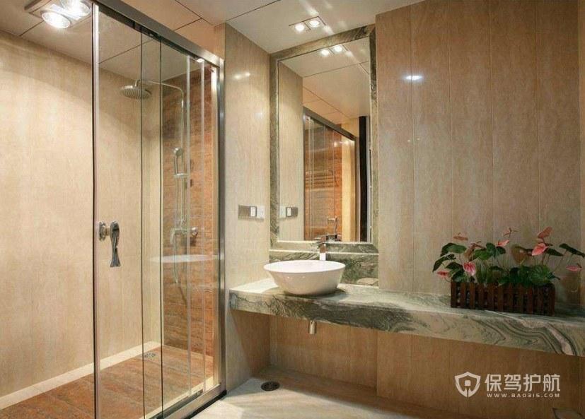 卫生间干湿分离设计:干湿分离有哪些隔断材料?