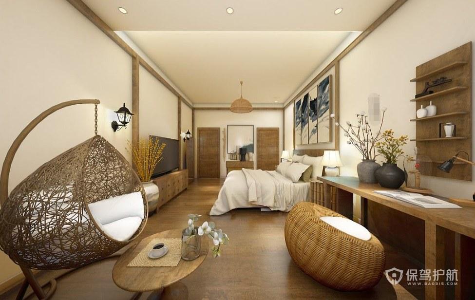 中式古典民宿装修效果图