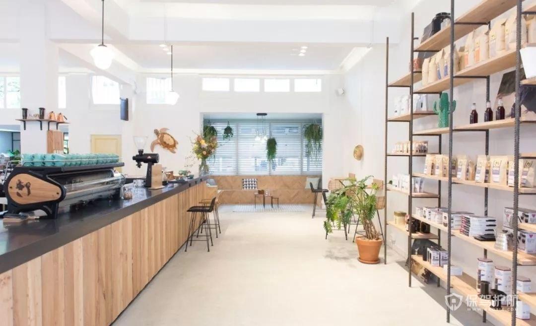 现代简约风清新咖啡店装修效果图