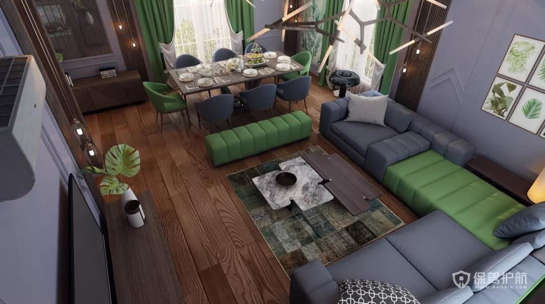 客厅+餐厅装修设计-保驾护航装修网