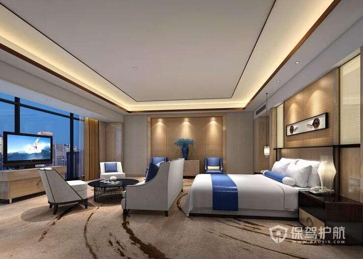 地中海风情酒店卧室装修实景图